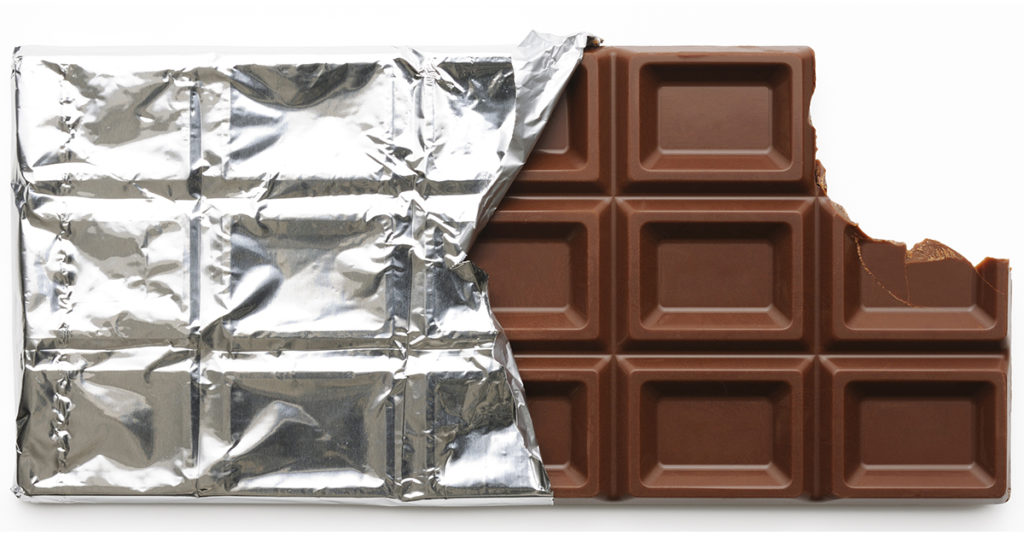 Foil wrapped chocolate bar, how to store it.